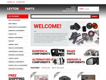 leyton taxi parts website